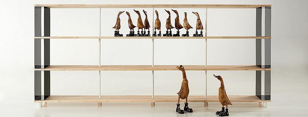 brerie legno wooden bookcases