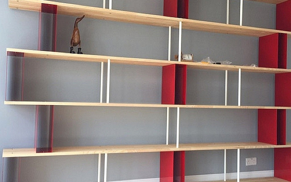 wall bookcase