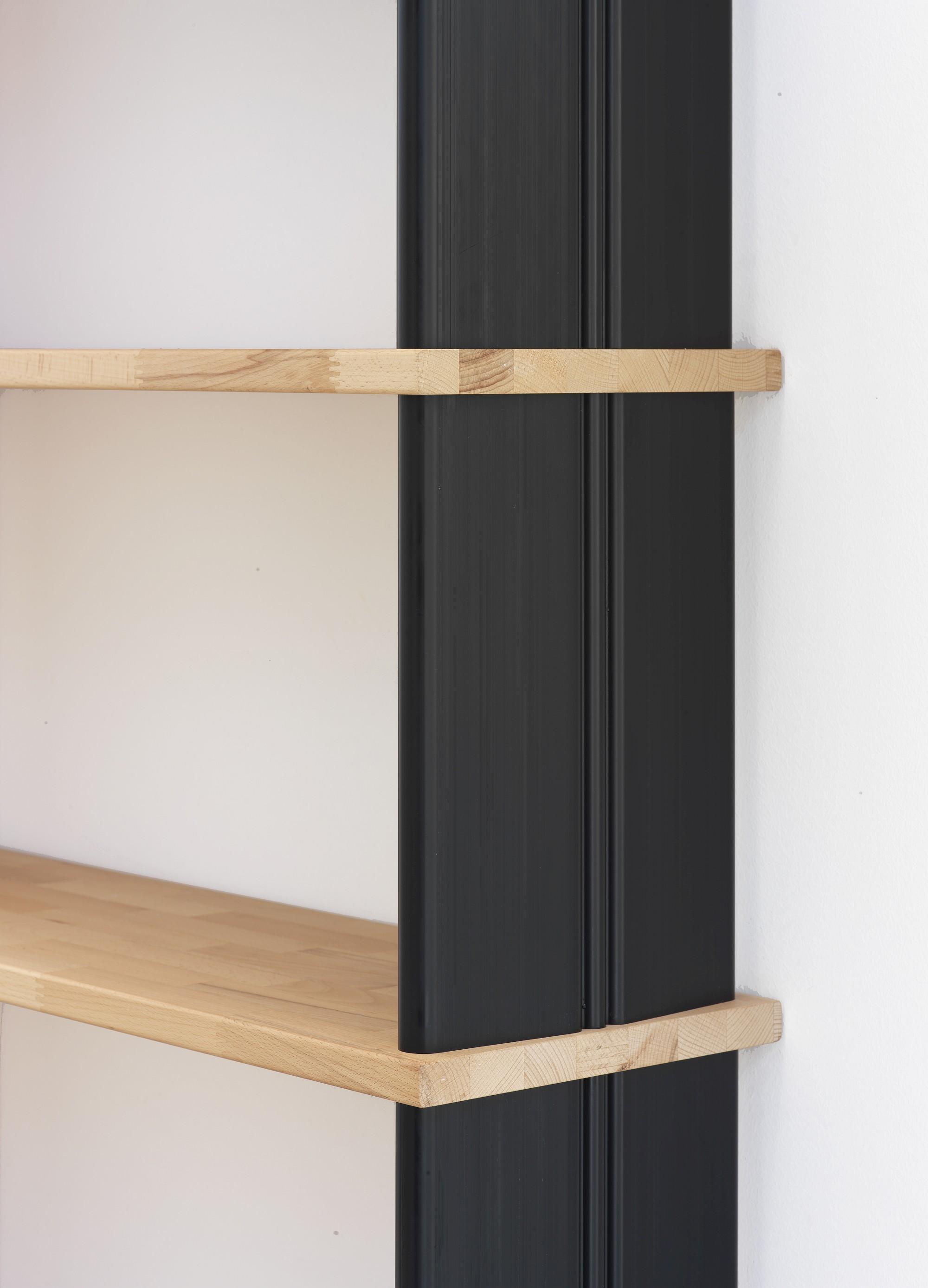 Nikka wood librerie componibili a parete in legno massello for Librerie in legno componibili